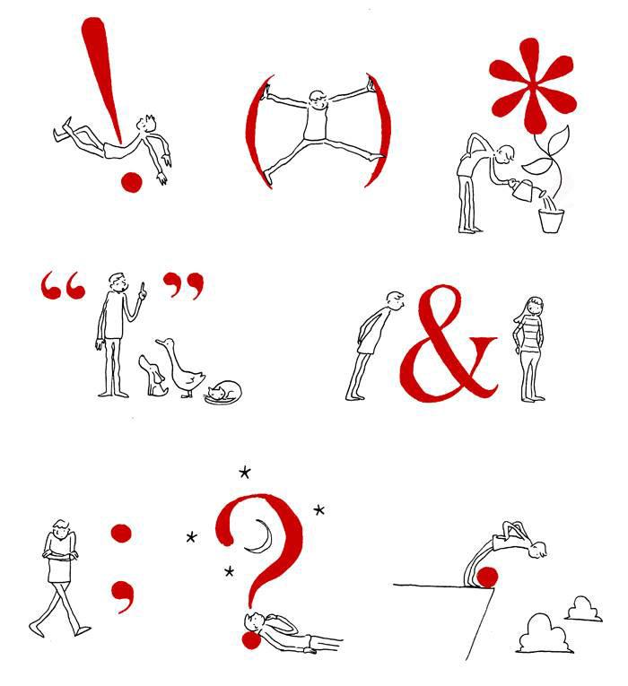 ¿Qué relación tiene el hombre con los signos de puntuación? Grant Snider nos lo ilustra - 5