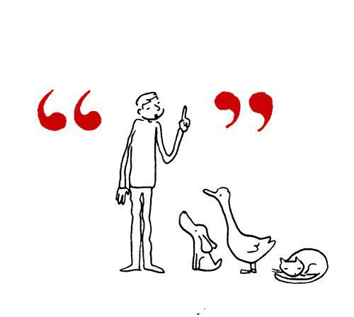 ¿Qué relación tiene el hombre con los signos de puntuación? Grant Snider nos lo ilustra - 2