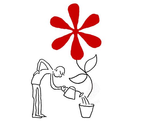 ¿Qué relación tiene el hombre con los signos de puntuación? Grant Snider nos lo ilustra - 1