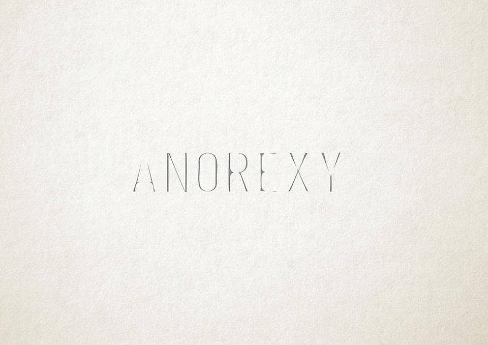 Esto es lo que pasa cuando la tipografía se transforma en trastornos mentales - anorexia