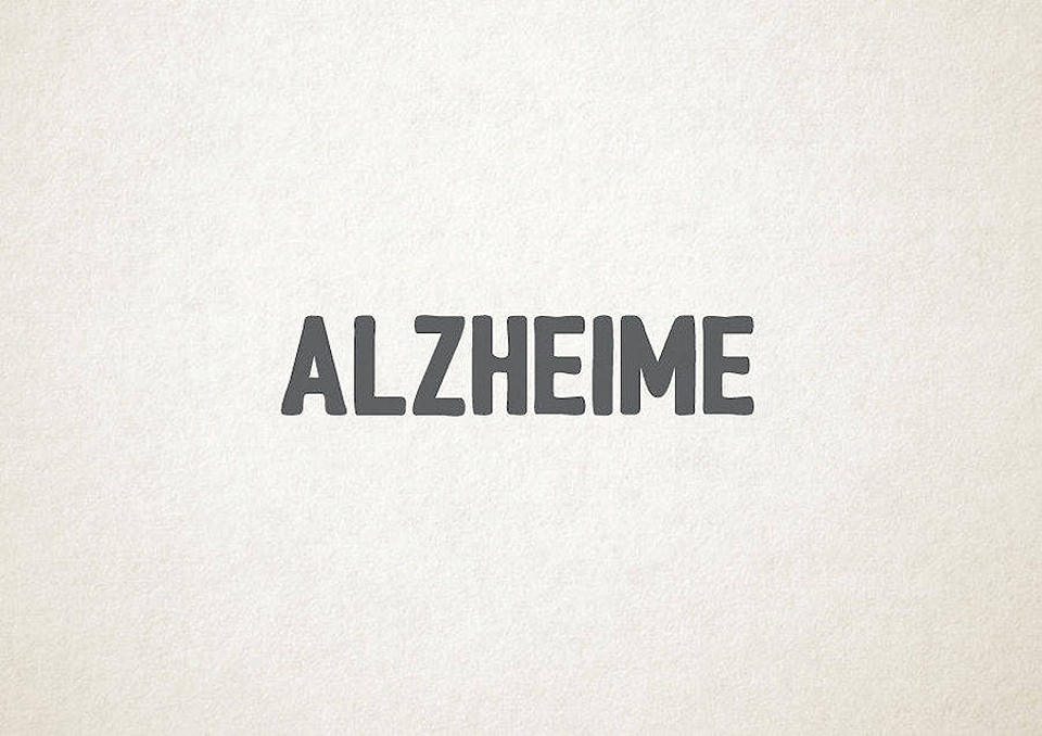 Esto es lo que pasa cuando la tipografía se transforma en trastornos mentales - alzehimer