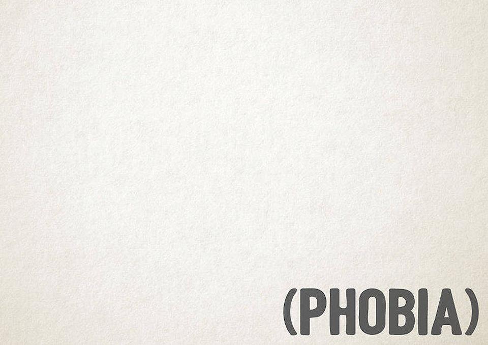 Esto es lo que pasa cuando la tipografía se transforma en trastornos mentales - phobia