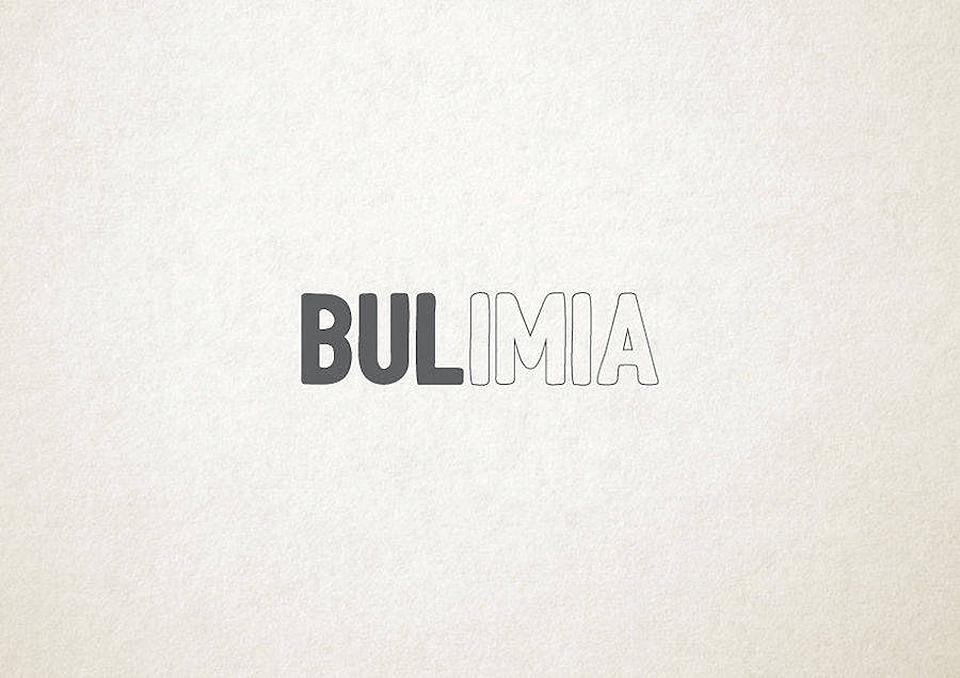 Esto es lo que pasa cuando la tipografía se transforma en trastornos mentales - bulimia