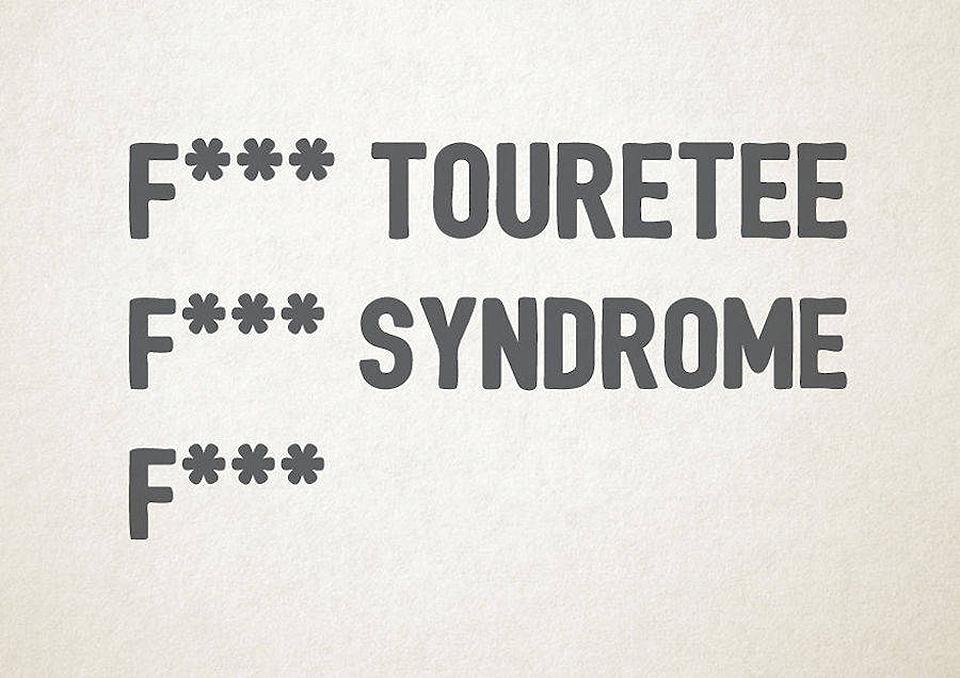 Esto es lo que pasa cuando la tipografía se transforma en trastornos mentales - síndrome de torete