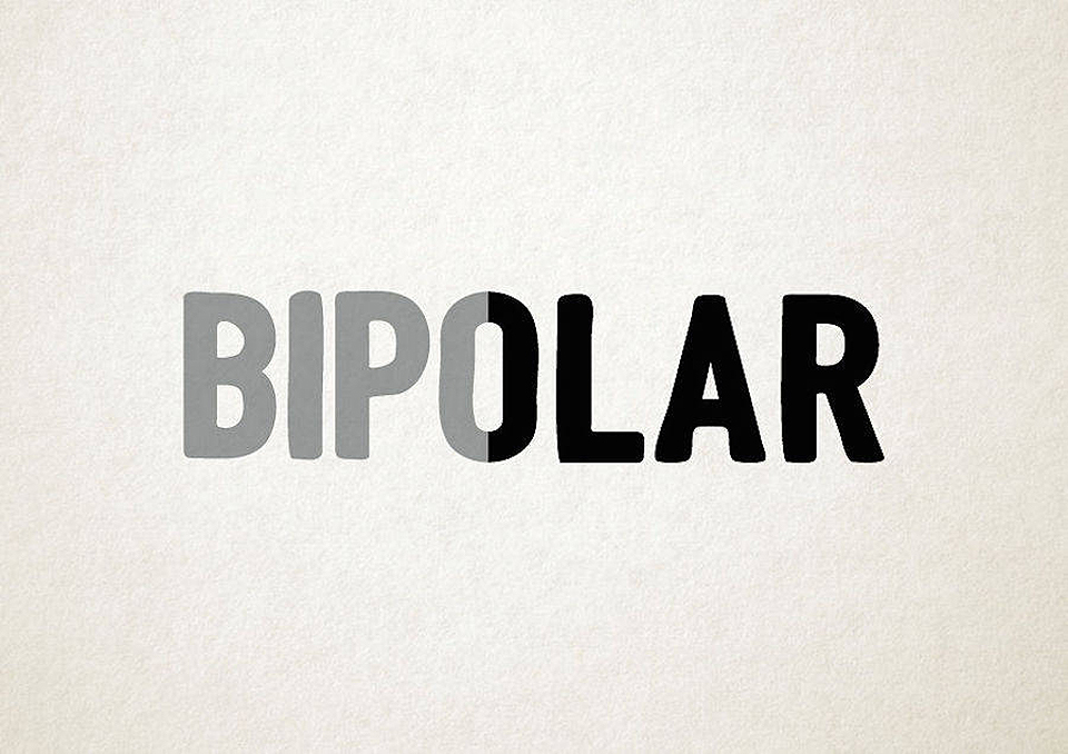 Esto es lo que pasa cuando la tipografía se transforma en trastornos mentales - bipolar