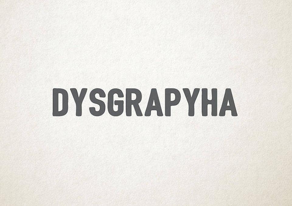 Esto es lo que pasa cuando la tipografía se transforma en trastornos mentales - dislexia