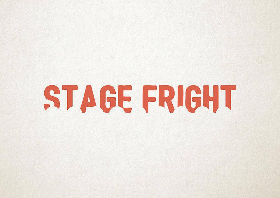 Esto es lo que pasa cuando la tipografía se transforma en trastornos mentales - stage fright