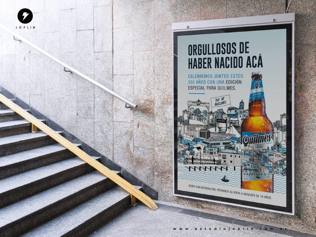 La cerveza Quilmes celebra 350 años de historia con un nuevo diseño de etiqueta - cartel