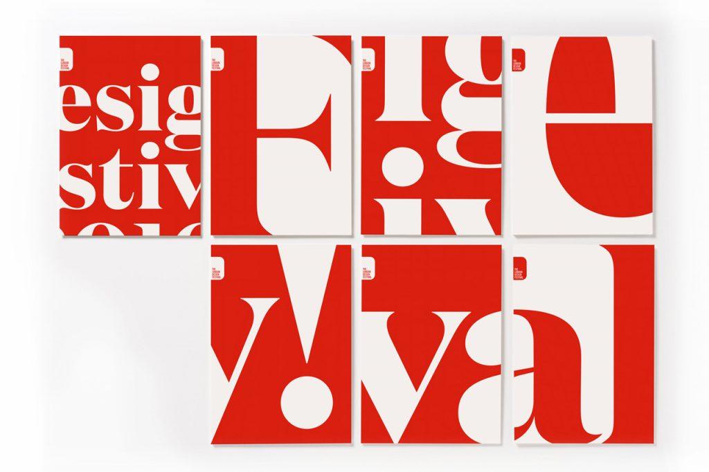 London Design Festival 2016 vuelve a inundar de rojo y blanco la ciudad - carteles