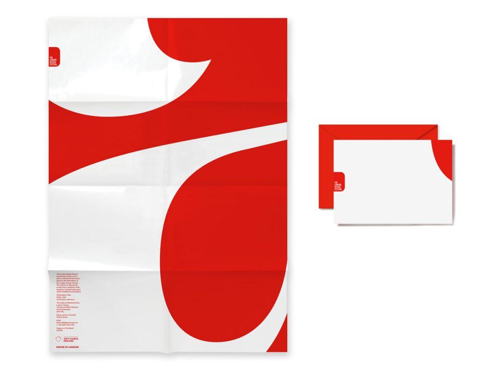 London Design Festival 2016 vuelve a inundar de rojo y blanco la ciudad - papelería
