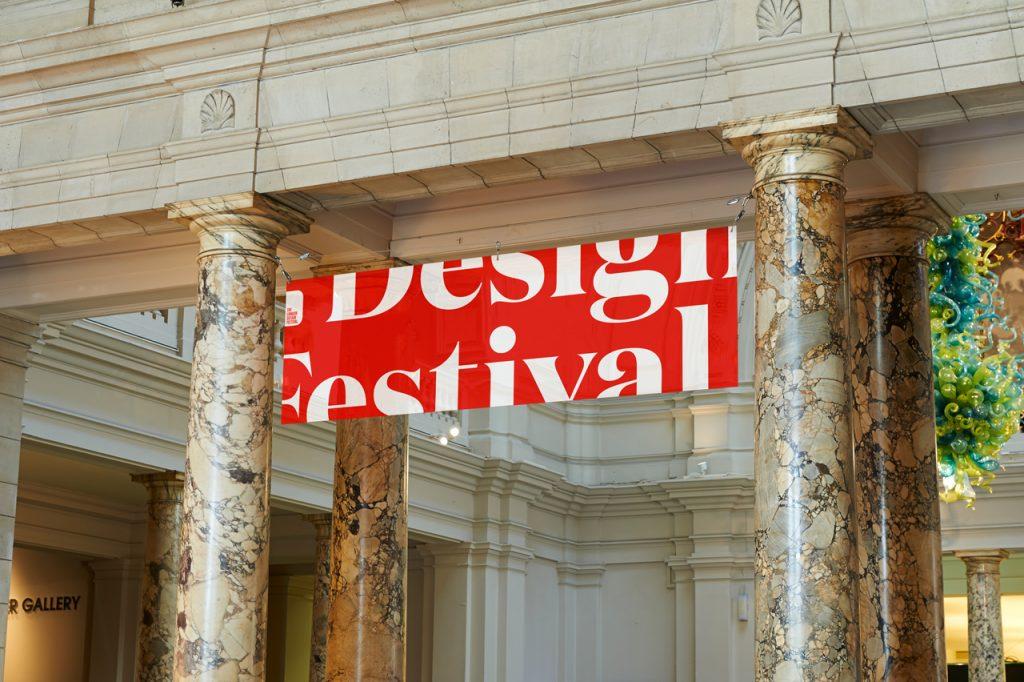 London Design Festival 2016 vuelve a inundar de rojo y blanco la ciudad - lona