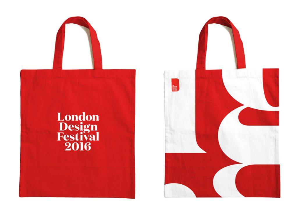 London Design Festival 2016 vuelve a inundar de rojo y blanco la ciudad - bolsas