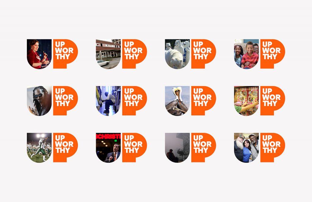 Upworthy o el optimismo en las redes - variaciones del logotipo