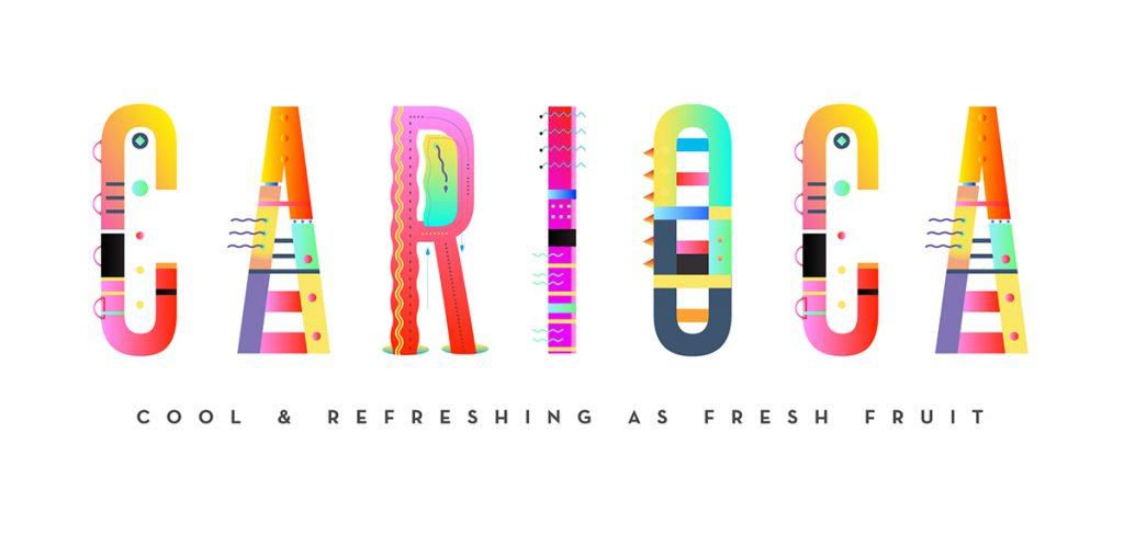 Carioca Font, tipografía experimental y gratuita creada por Veron y Salinas