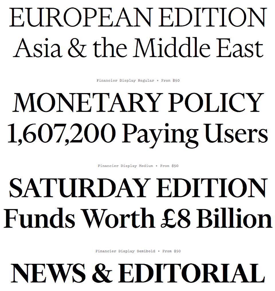 ¿Cómo es Financier, la nueva tipografía del Financial Times? - 2