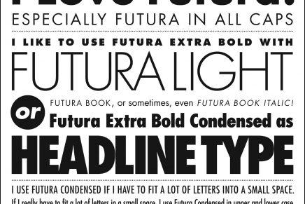 ¿Quién diseñó la tipografía Futura?