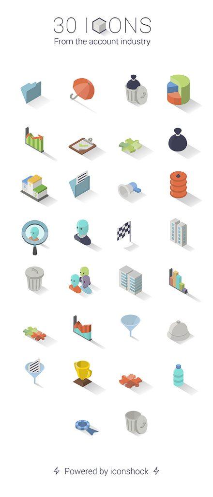 30 iconos isométricos y gratuitos - 2