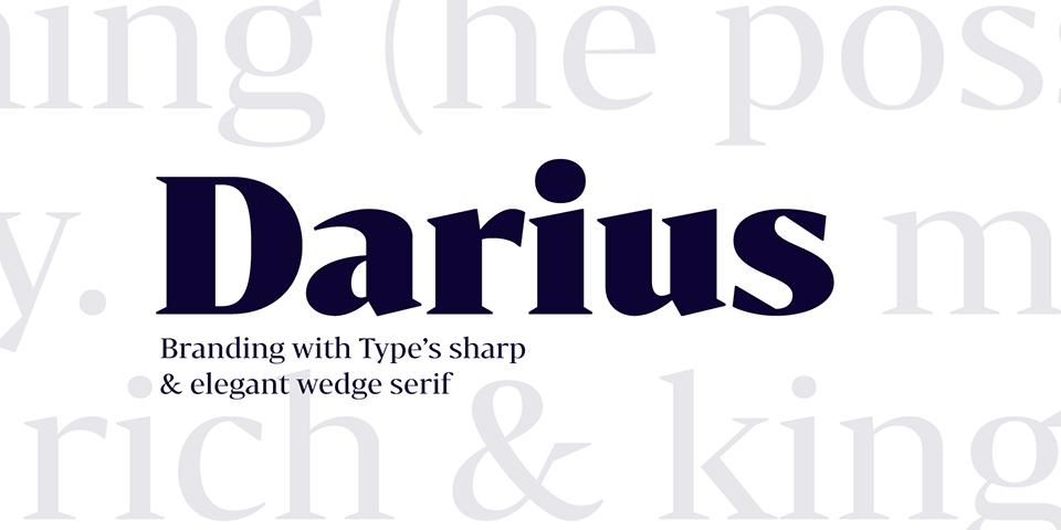 Bw Darius, la tipografía nacida de la tipografía de transición y la pidona - 10
