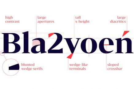 Bw Darius, la tipografía nacida de la tipografía de transición y la didona
