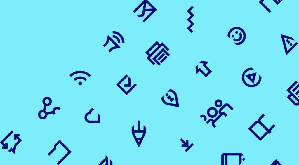 UOC Brand, la identidad gráfica que muchas universidades querrían - pictogramas