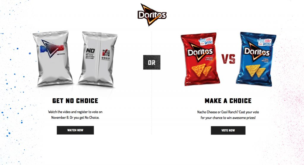 Doritos anima a los estadounidenses a votar con un packaging 'fake' - 1