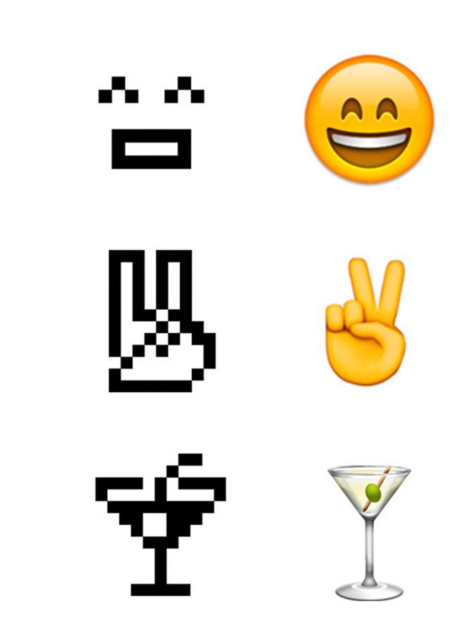 Emojis en el MoMA - comparación1