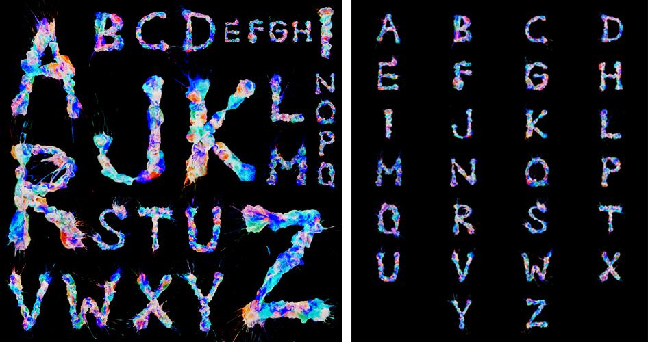 Ruslan Khasanov - ¿Cómo es la tipografía que hubiera creado Jackson Pollock? - 8