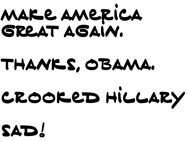 ¿Cómo es la tipografía inspirada en la caligrafía de Donald Trump? - 5
