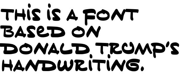 ¿Cómo es la tipografía inspirada en la caligrafía de Donald Trump? -4
