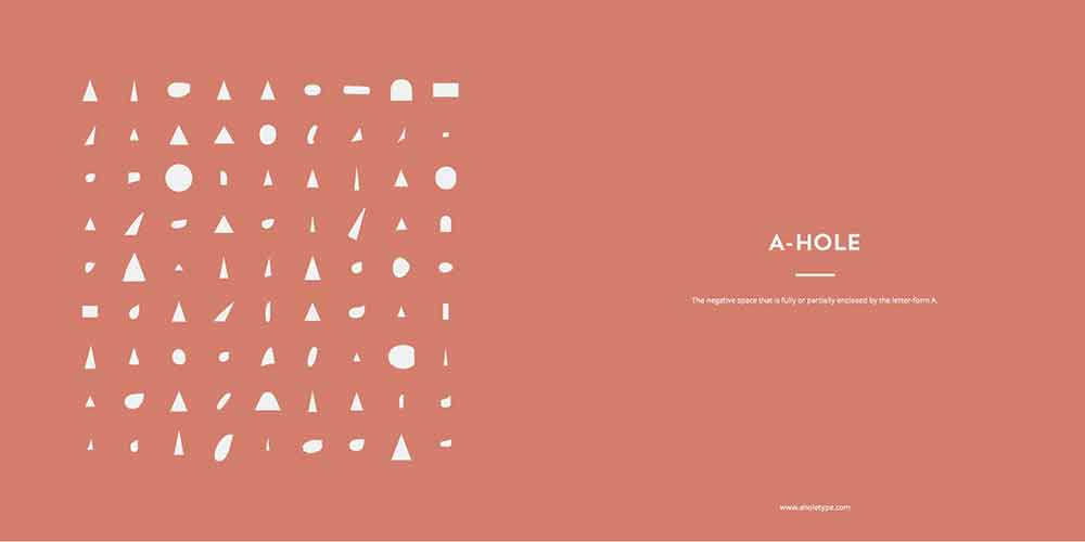 'A-Holes', un libro tipográfico que hará que adores la contraforma de la letra 'A'