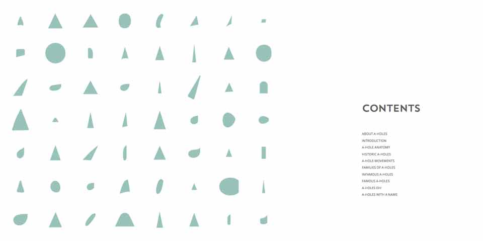 'A-Holes', un libro tipográfico que hará que adores la contraforma de la letra 'A' - 2