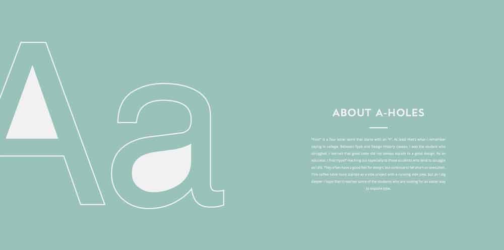 'A-Holes', un libro tipográfico que hará que adores la contraforma de la letra 'A' - 3