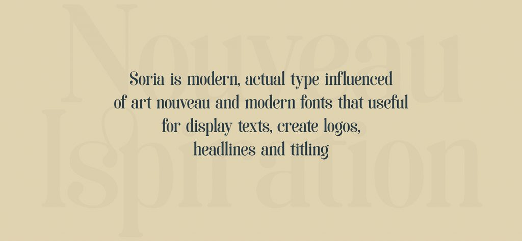 La tipografía Art Noveau homenaje a la ciudad de Soria - 2