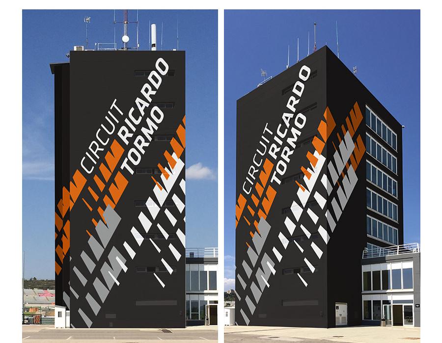 Pepe Gimeno crea la nueva imagen gráfica del Circuit Ricardo Tormo - edificio