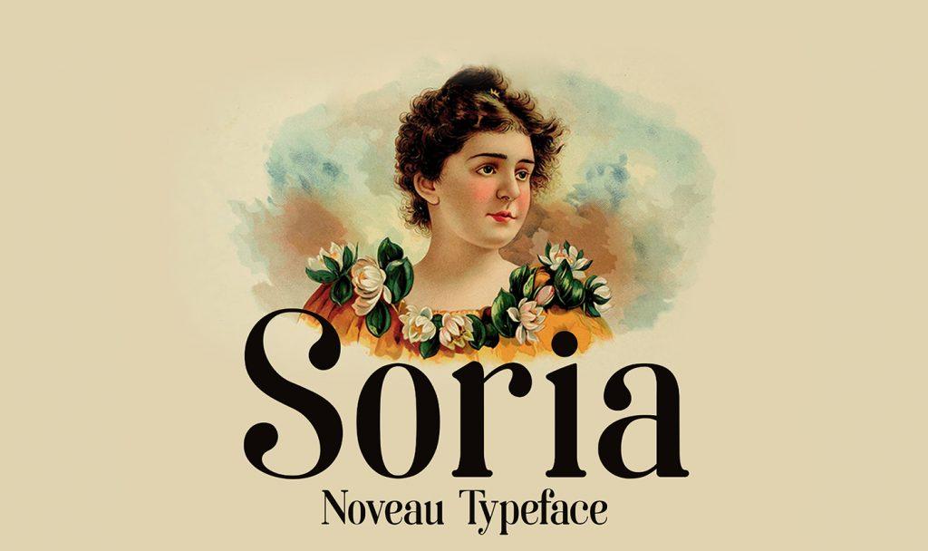 La tipografía Art Nouveau homenaje a la ciudad de Soria - 1
