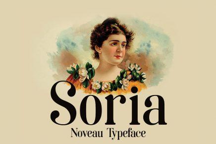 La tipografía Art Nouveau homenaje a la ciudad de Soria