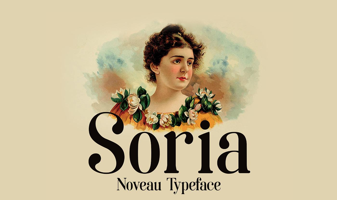 La tipografía Art Noveau homenaje a la ciudad de Soria - 1