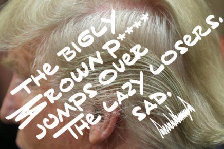 ¿Cómo es BF Tiny Hand, la tipografía inspirada en la caligrafía de Donald Trump?