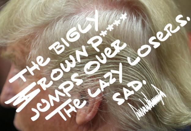 ¿Cómo es la tipografía inspirada en la caligrafía de Donald Trump? -1