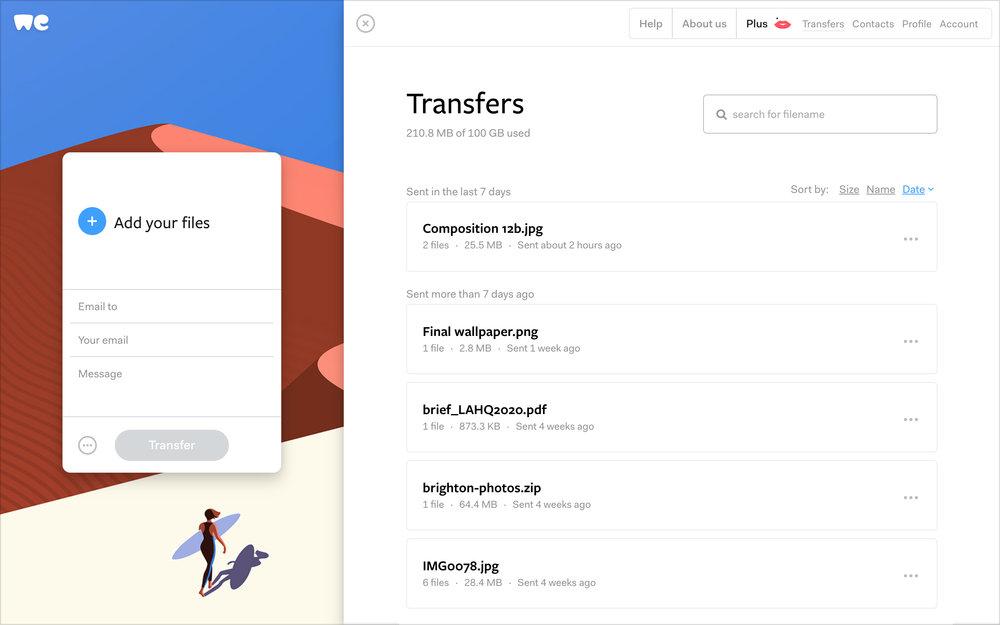 «El feedback de nuestros usuarios ha influido en muchas de los decisiones de diseño del nuevo WeTransfer», Laszlito Kovacs - 7