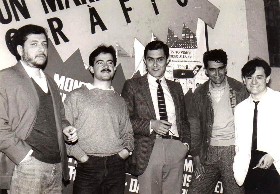Foto del blog de Joan Navarro 'Viñetas'. De izquierda a derecha: Micharmut, Daniel Torres, Sento Llobell y Mique Beltran.