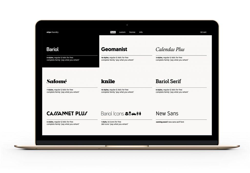 Atipo Foundry nace con un gran descuento en tipografías bajo el brazo - 1