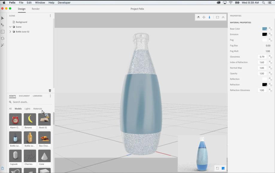 Project Felix, el nuevo programa de Adobe para la creación de gráficos 3D - 3