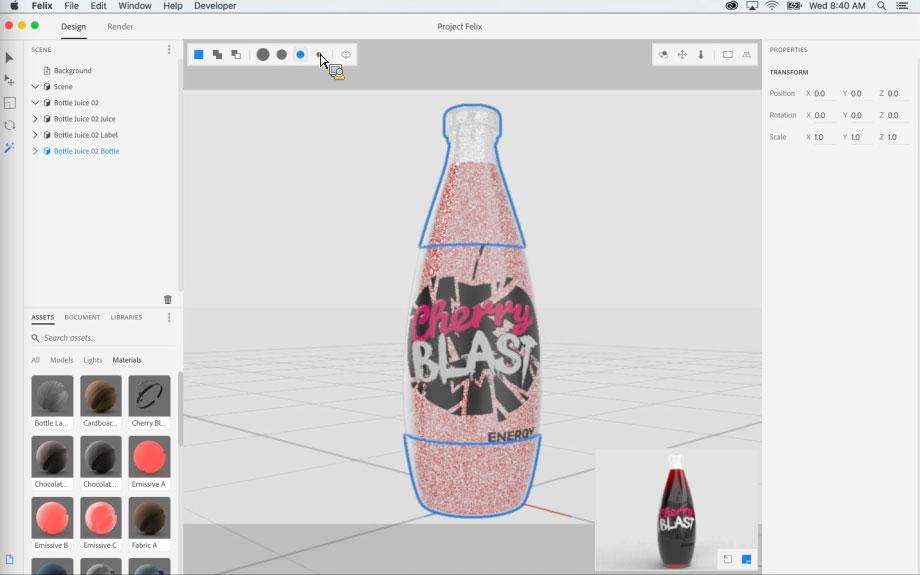Project Felix, el nuevo programa de Adobe para la creación de gráficos 3D - 4