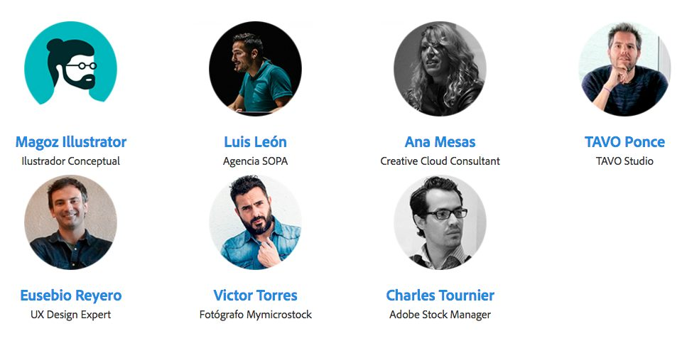 Adobe desvela las últimas novedades en Creative Cloud y tú puedes experimentarlo en directo - ponentes