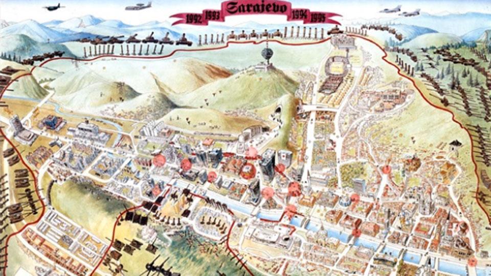 Mapa Sarajevo - Cartografia siglo XX