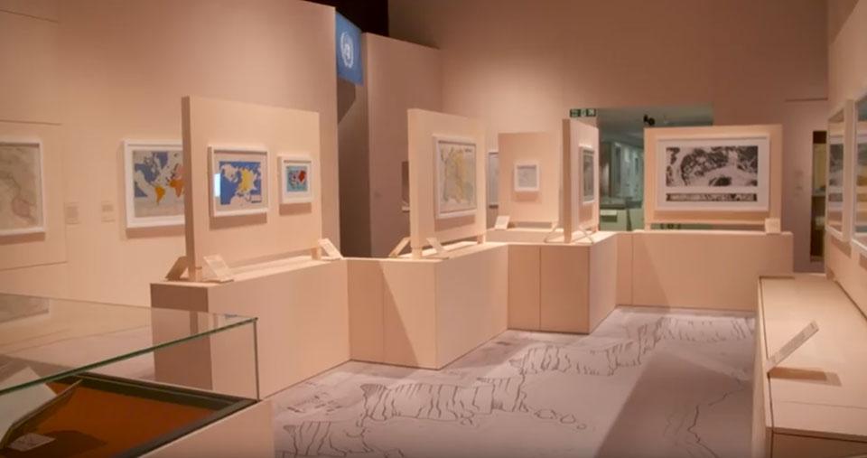 Sala exposición - Cartografia siglo XX Londres