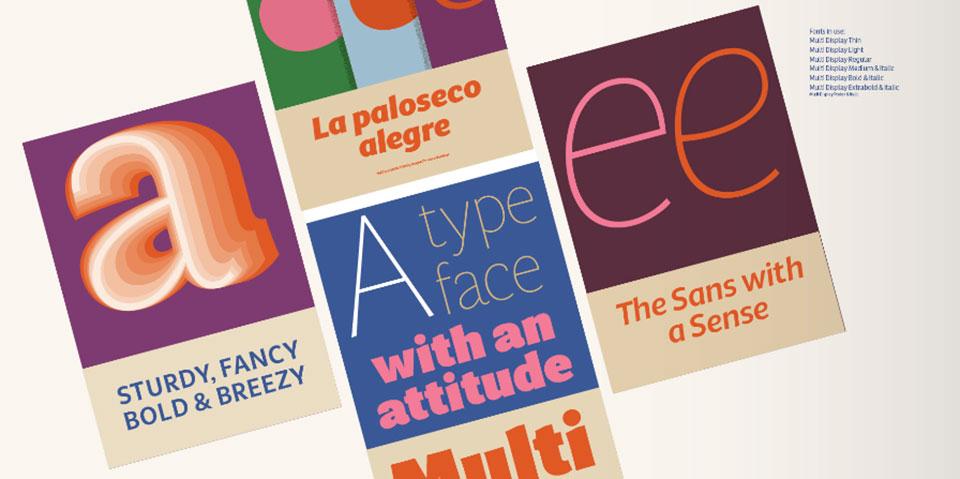 Multi, tipografía de Laura Meseguer52