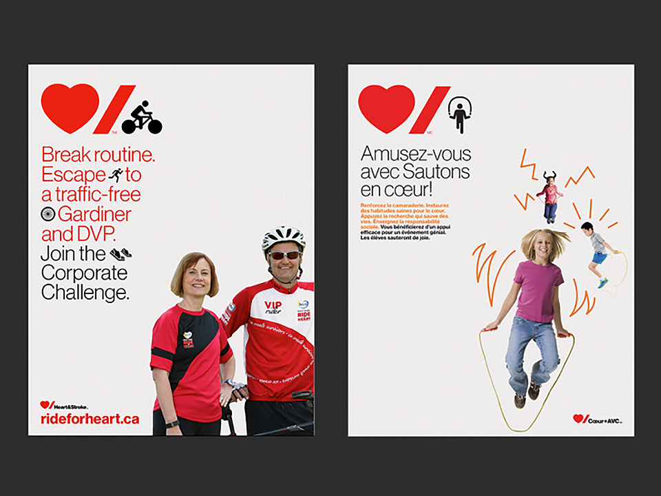 Paula Scher redisena la identidad de Heart and Stroke Foundation-7