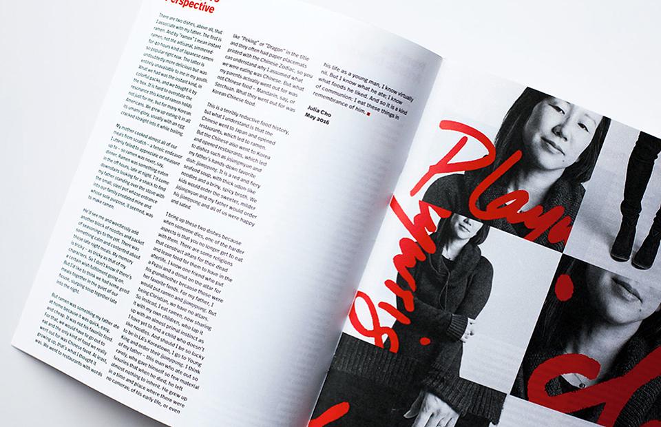 El negro, rojo, blanco, la tipografía FF Real y las fotografías en blanco y negro conforman el ecosistema gráfico de Playwrights. - 2